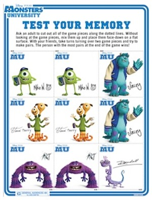 Monsters University- Test Your Memory