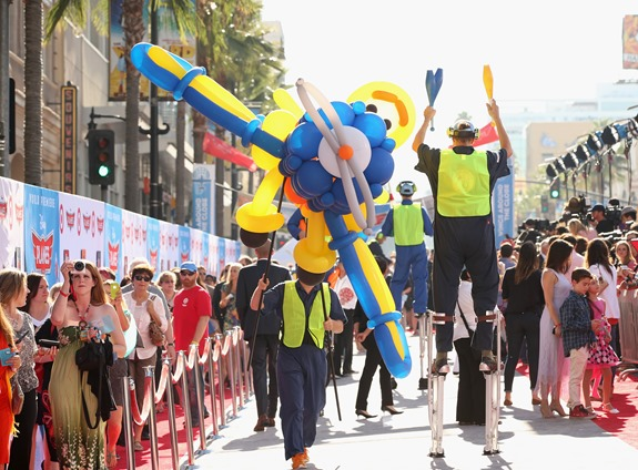 """HOLLYWOOD, CA - AUGUST 05:  A general view of the atmosphere at the Target Landing Zone at the World Premiere of """"Disney's Planes"""" at the El Capitan Theatre on Aug. 5, 2013, in Hollywood, California.  (Photo by Christopher Polk/WireImage)"""