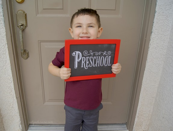 Shane's First Day of Preschool 2013