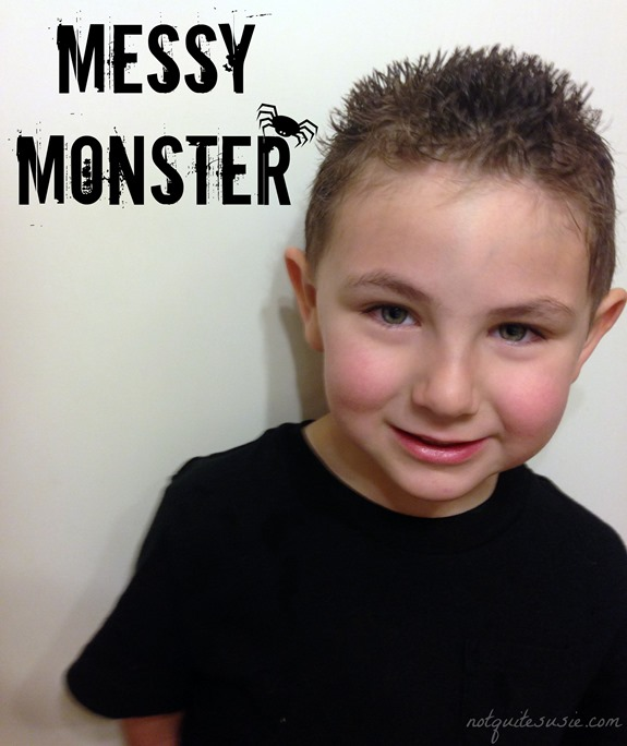 Messy Monster Hairstyle for Boys Halloween