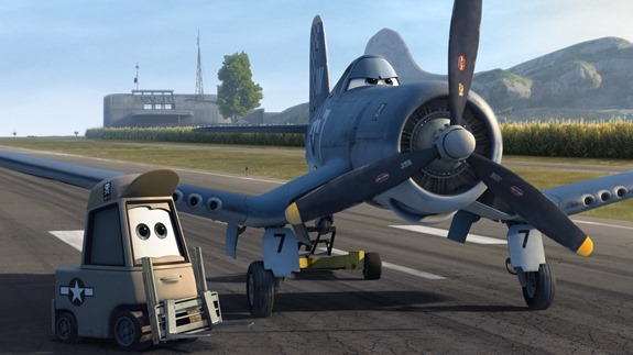 """PLANES"" (Pictured) SPARKY and SKIPPER. ©2013 Disney Enterprises, Inc. All Rights Reserved."