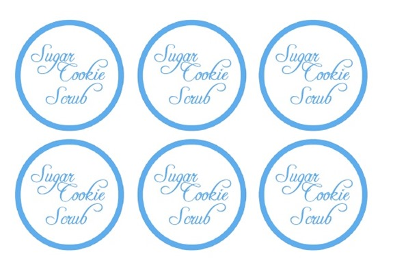 Sugar Cookie Scrub labels