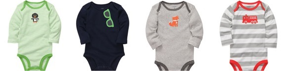 Carter's long sleeved onesies