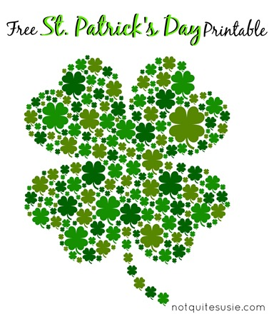 This is a graphic of Bright St Patrick Day Free Printables