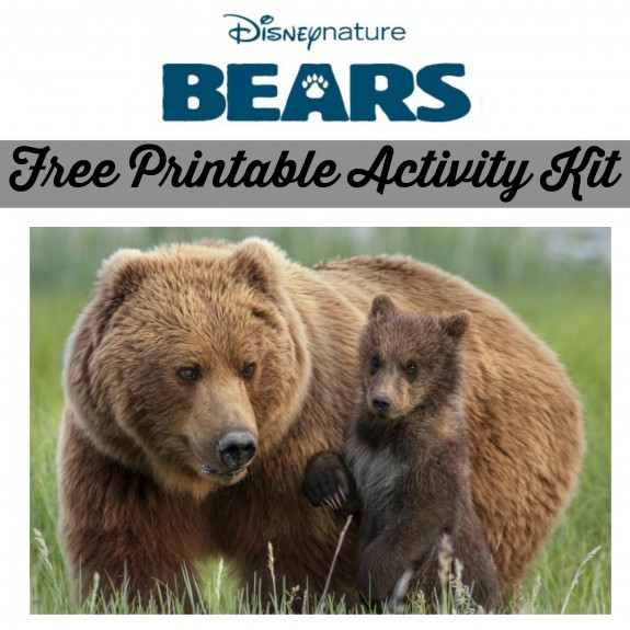 Free Printable Activity Kit for Disneynature's Bears Disney Earth Day
