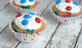 Red, White & Blue Patriotic Cupcakes Recipe