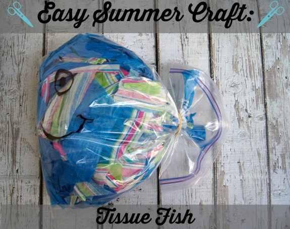 Easy Summer Craft Tissue Fish #WalgreensPaperless #CollectiveBias