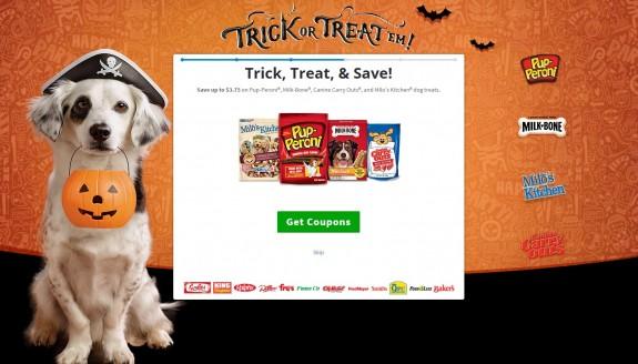 Get Coupons for your favorite dog treat brands! #TrickOrTreatEm #shop