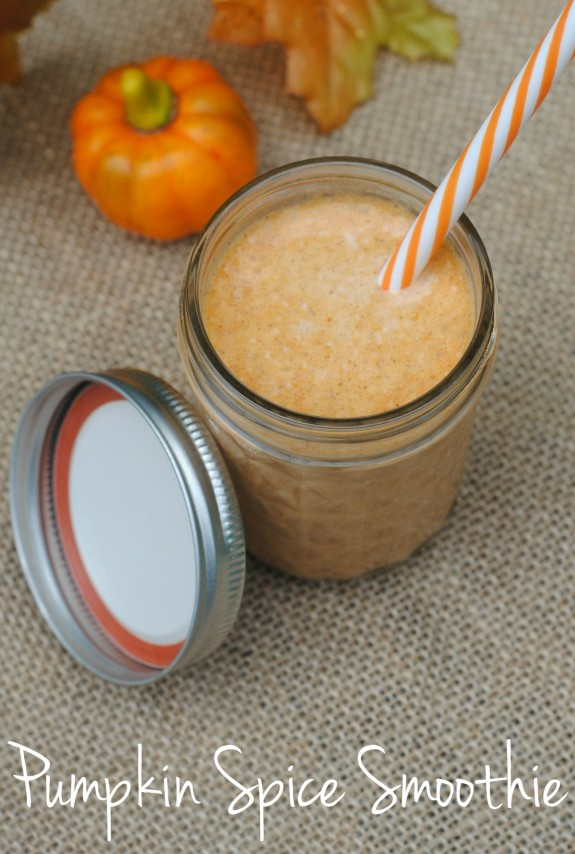 Are you ready for Pumpkin Spice everything? If you aren't already sick of it from your coffee creamer and cupcakes, be sure to try this easy DIY Pumpkin Spice Smoothie Recipe! It includes real pumpkin and is one of the best ways to enjoy pumpkin spice {especially if it's still warm where you are!} and it's even kid approved!