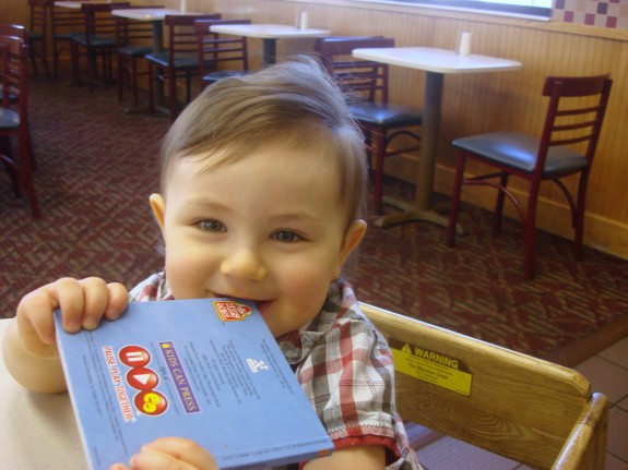 Shane at Wendy's as a baby