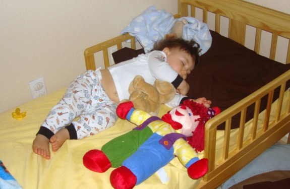 Shane sleeping at 13 months
