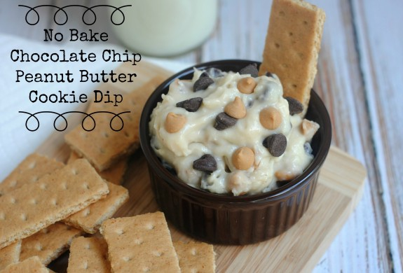 No Bake Chocolate Chip Peanut Butter Cookie Dip Recipe - {Not Quite ...