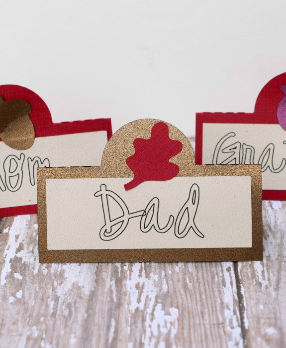 Silhouette Tutorial Thanksgiving Place cards