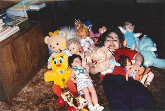 Stuffed animal pile