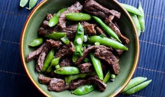 Paleo Recipe: Beef & Sugar Snap Peas