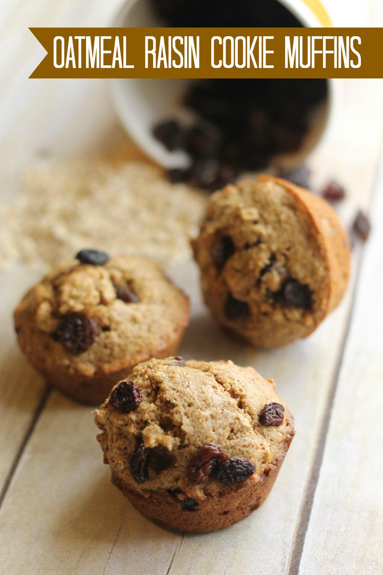 Oatmeal Raisin Cookie Muffins Recipe - {Not Quite} Susie ...