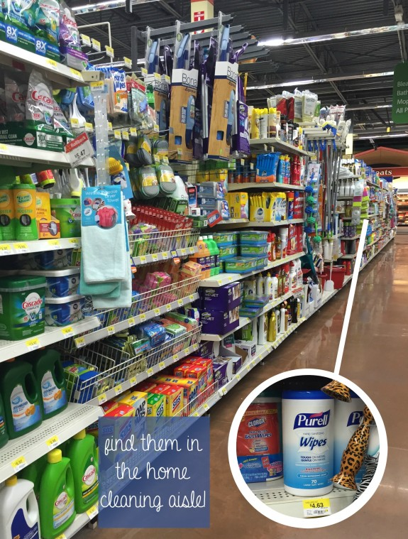 Find PURELL Hand Sanitizing Wipes in the Home Cleaning Aisle!