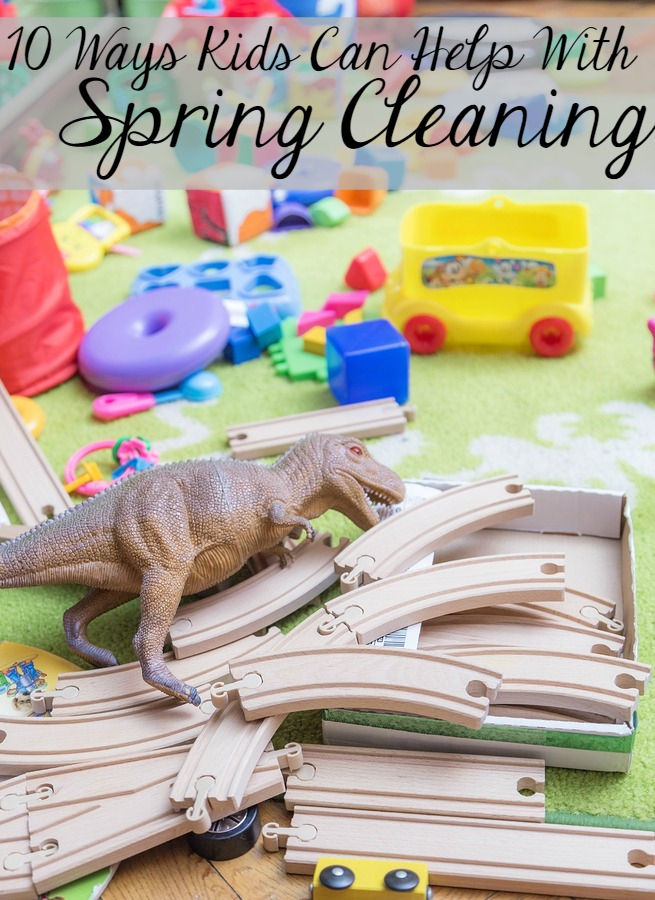 10 Ways Kids Can Help with Spring Cleaning- or Cleaning Year-Round!