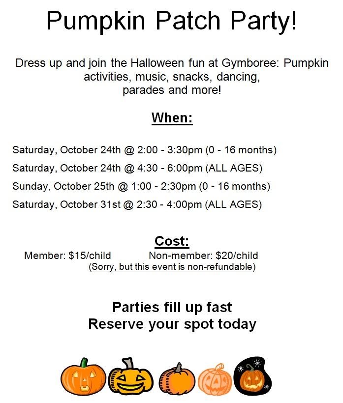 Pumpkin Patch Party Gymboree Play Music Singapore