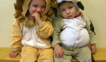 Shane on Halloween at Gymboree