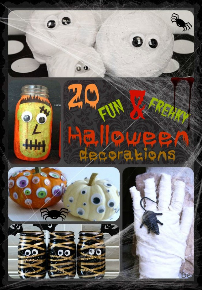 A - 20 Fun and Freaky Halloween Decorations - Words