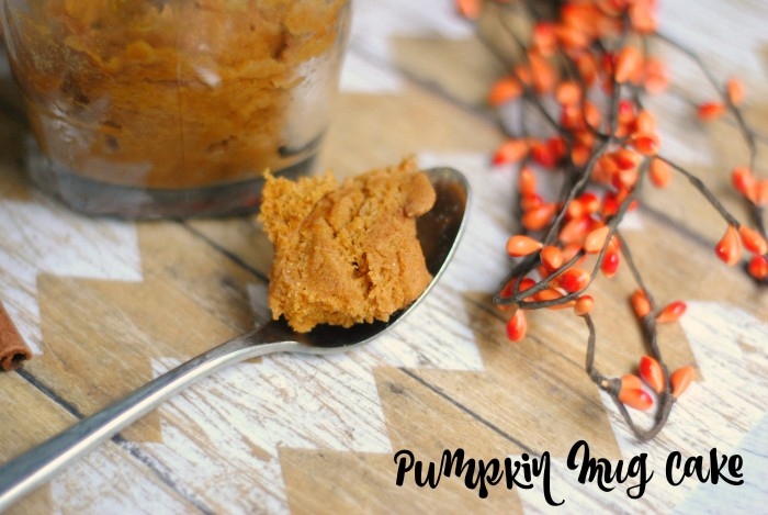 Pumpkin Mug Cake- made in just 90 seconds in the microwave!
