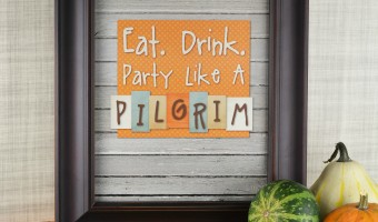 Free Thanksgiving Printable: Party Like a Pilgrim!