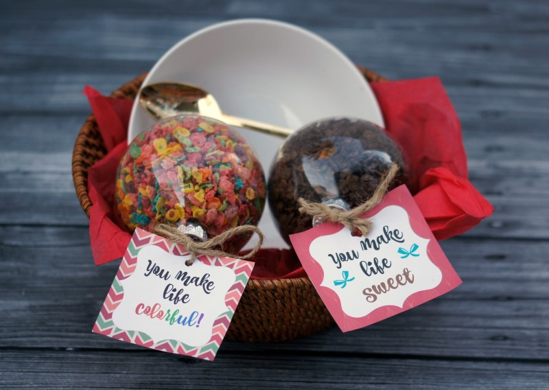 Diy holiday gift idea cereal lover 39 s gift basket with Christmas gift ideas for cooking lovers