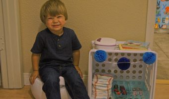 Make Potty Training Fun with a DIY Potty Training Station! {+Free Printable Potty Chart!}