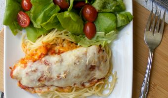 Baked Chicken Parmesan Recipe- and an Easy Way to Clean Up After Cooking It!