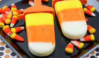 Candy Corn Yogurt Pops Recipe
