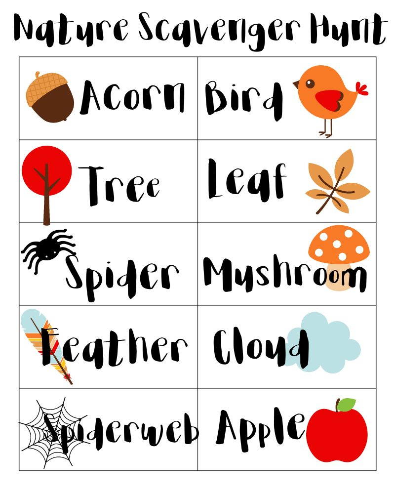 What's better than spending a fall afternoon outside exploring nature? Doing a scavenger hunt while you explore! Have fun playing outside with this free printable that you can use anywhere.