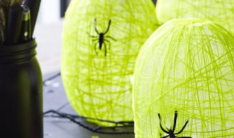 DIY Glow in the Dark Spider Nest Lanterns