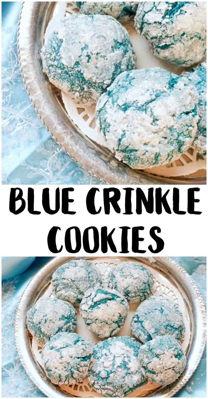 Holiday Cookies Recipe Blue Crinkle Cookies Not Quite