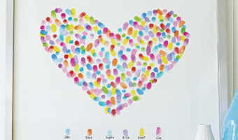 Valentine's Day Decor Idea: Fingerprint Heart Art