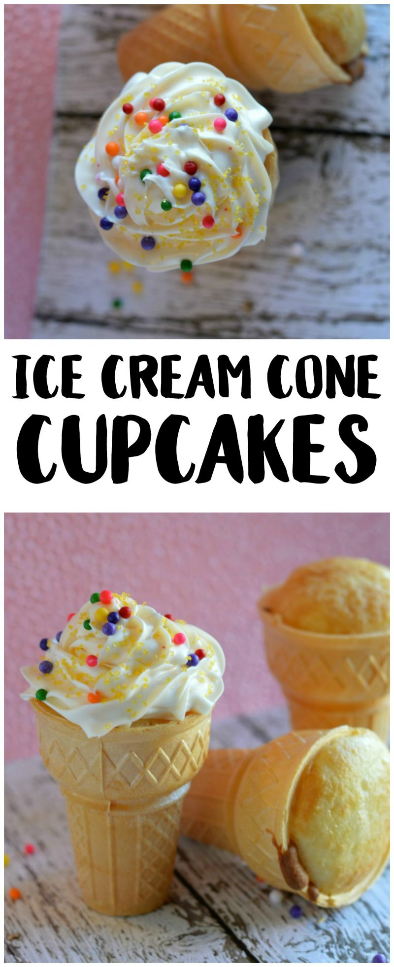 Whether they are vanilla or chocolate or something more creative, homemade cupcakes are so delicious and easy. But they can get messy too, especially at kid parties! These cute Ice Cream Cone Cupcakes are baked right in the cone so they have their own holder, eliminating the mess! Learn how to make these creative birthday cupcakes with this easy recipe- and get creative with your decoration ideas!