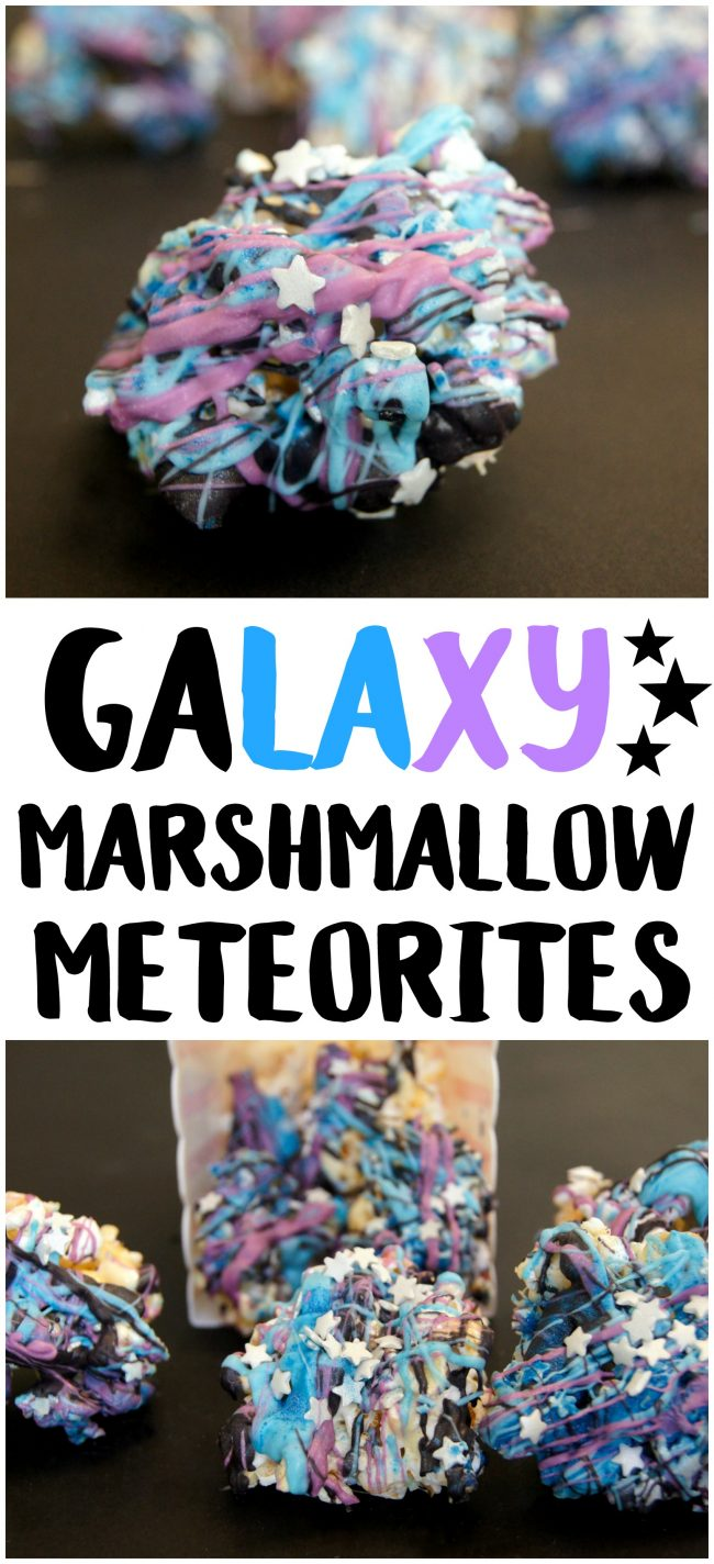 Ready for family movie night? Movie night is always better with delicious treats and these Galaxy Marshmallow Meteorites are the perfect choice for watching Guardians of the Galaxy Vol 2!