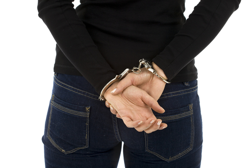 woman handcuffed