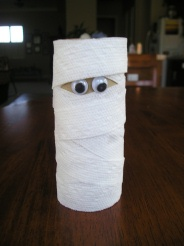 tp roll mummy from busy bee kids crafts - Halloween Mummy Crafts