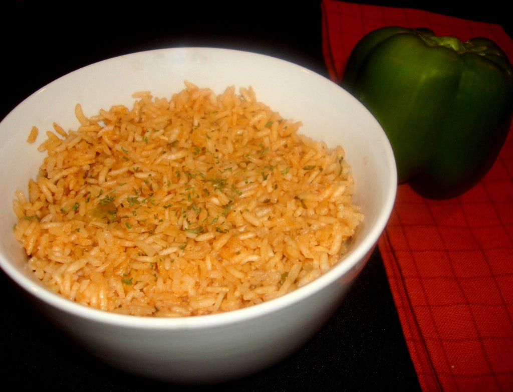 mexican rice with green pepper