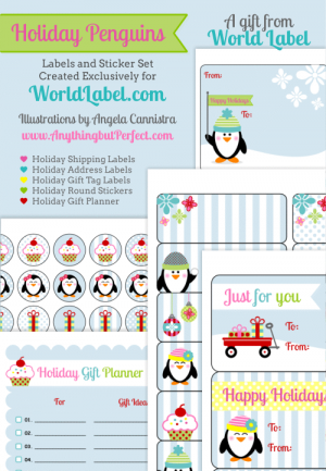 holiday penguins holiday gift tags