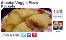sneaky veggie pizza pockets
