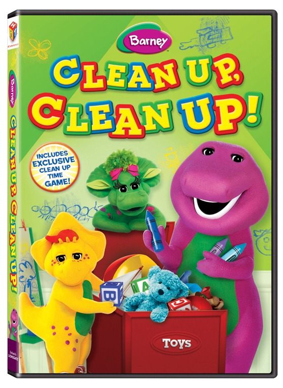 review barney s clean up clean up dvd not quite susie homemaker. Black Bedroom Furniture Sets. Home Design Ideas