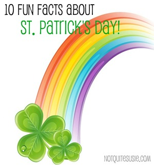 fun facts st patricks day