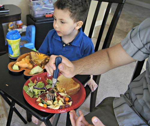 Shane eating