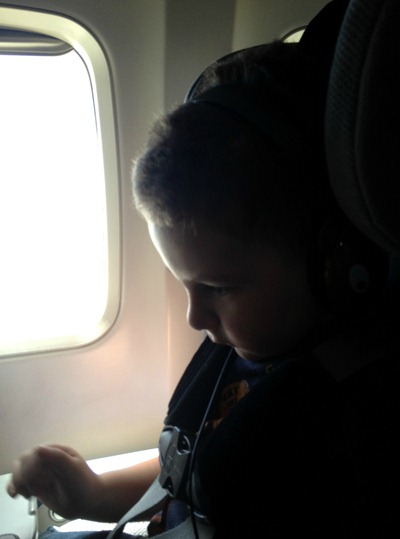 Toddler's first plane ride