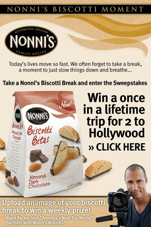 nonnis biscotti sweepstakes