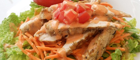 Recipe: Grilled Buffalo Chicken Salad #NSNation