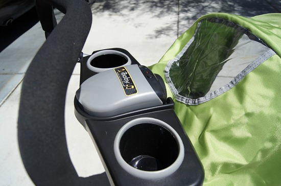 J is for Jeep Jogging Stroller cup holders and handle