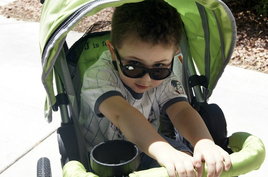 J is for Jeep Jogging Stroller preschooler